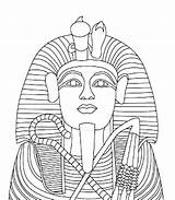 Coloring Pharaoh King Tut Egyptian Drawing Tutankhamun Pages Mask Clipart Sarcophagus Tomb Ancient Printable Template Getdrawings Amenhotep Getcolorings Education Library sketch template