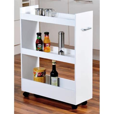 cdiscount cuisine en bois meuble de rangement pour cuisine à roulettes renforts en