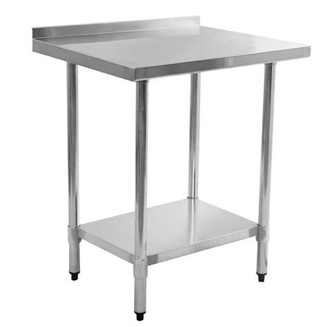 giantex stainless steel work prep table  backsplash