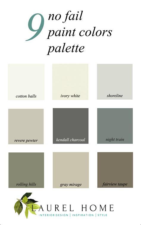 here it is a palette for no fail paint colors laurel home