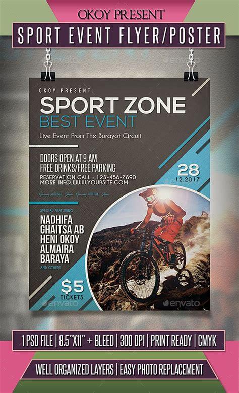 sport event flyer poster template psd sport event