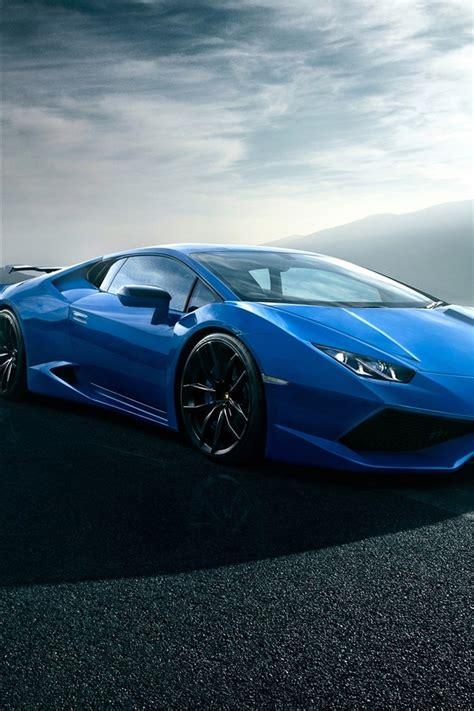 Blue Wallpaper Iphone 6 Lamborghini by Fonds D 233 Cran Lamborghini Huracan Supercar Route Nuages