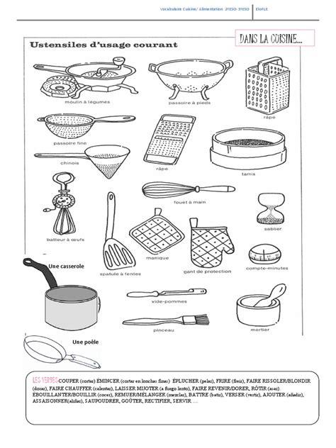 d馗orer une cuisine les ustensiles de cuisne pdf