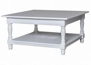 Table De Salon Carrée : acheter votre table basse carr e en pin massif blanche avec verre chez simeuble ~ Teatrodelosmanantiales.com Idées de Décoration
