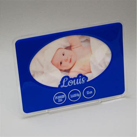 cadre photo naissance bleu personnalis 233