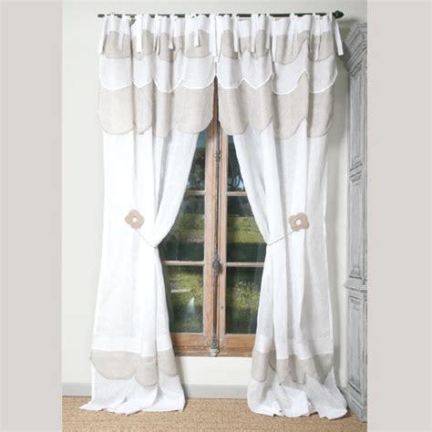 rideaux et voilages rideau p 226 querette lin blanc