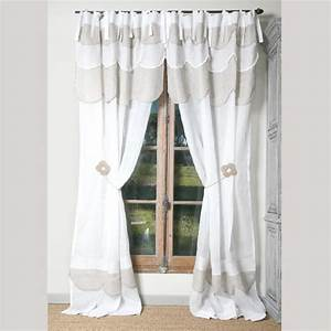 Rideau En Lin Blanc : rideaux et voilages rideau p querette lin blanc ~ Melissatoandfro.com Idées de Décoration