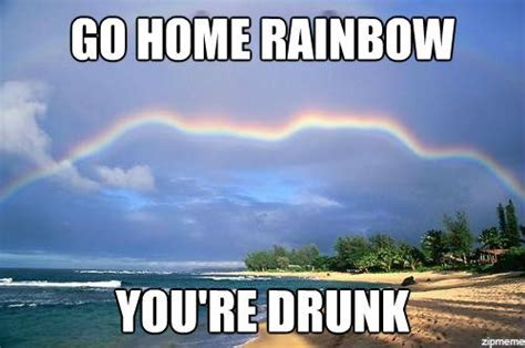 Internet Rainbow Meme - really funny memes go home you re drunk