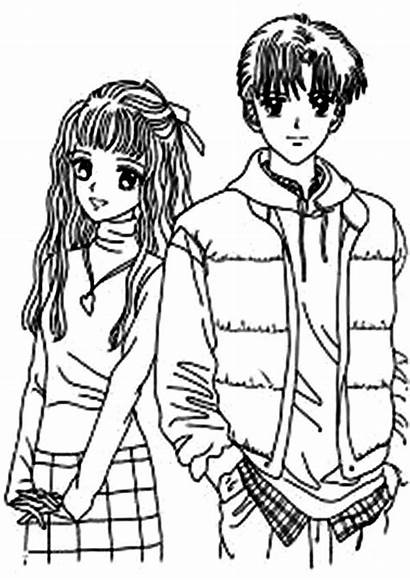 Coloring Anime Couple Animation Japan Angel Motion