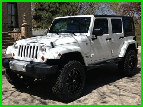 jeep wrangler white 4 2013 jeep wrangler unlimited sahara white 4 quot lift black