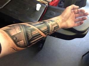 Terminator arm tattoo