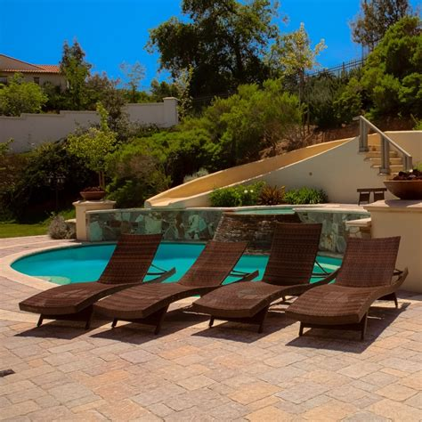 set of 4 luxury outdoor patio furniture pool pe wicker