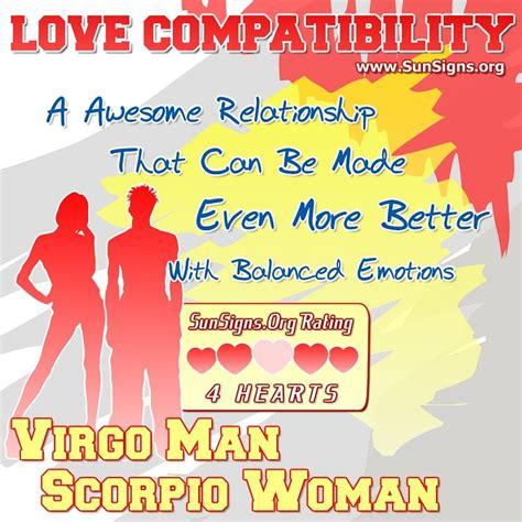 virgo man and scorpio woman love compatibility sun signs
