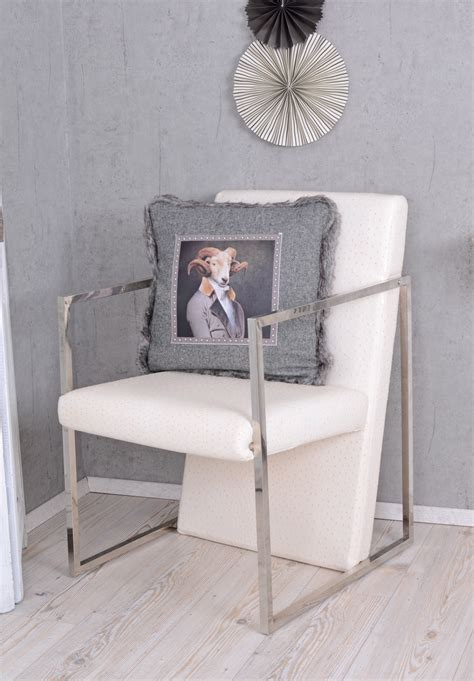 Ostrich Chair Uk by Chair Ostrich Leather Optik Fireplace Chair White Armchair