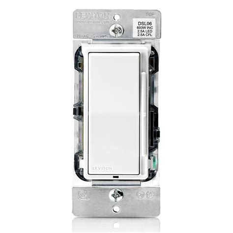 leviton decora  dimmer   watt dimmable led  watt incandescenthalogen white