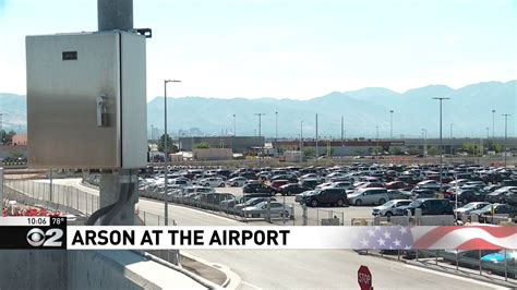 overnight fire damages  cars  slc airport rental car