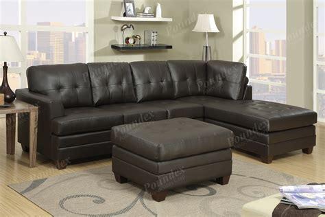 15+ Diana Dark Brown Leather Sectional Sofa Set