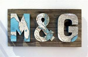 3 dimensional map letters on reclaimed wood by With 3 dimensional letters