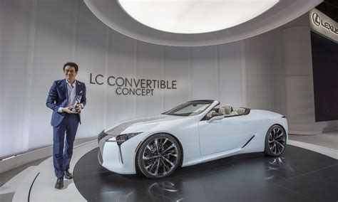 lexus lc convertible concept wins  eyeson design award