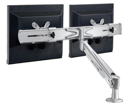 desk mount monitor arm dual dual desk mount monitor arm la 615 1