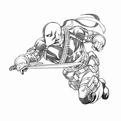 Deathstroke Dc Comics Slade Comic Characters Outline