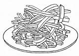 Fries French Coloring Pages Delicious Printable Getcolorings sketch template