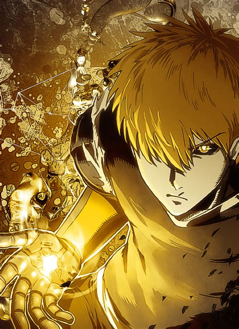 punch man genos full hd wallpaper