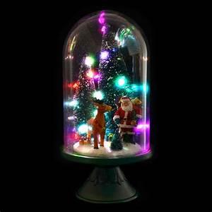 Large, Glass, Dome, Christmas, Ornament, Room, Decoration, Light, Up, Led, Santa, Snowman