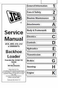 Jcb 2cx  2dx  210  212  U0026 Variants Backhoe Loader Service