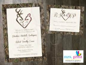 camo deer hearts wedding invitation and rsvp card by mrsprint - Camo Wedding Invitations