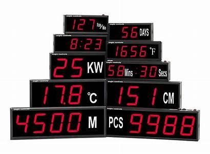 Digital Displays Led Process Clocks Temperature Specialise