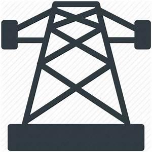 Electric power pylon, electric pylon, high voltage tower ...