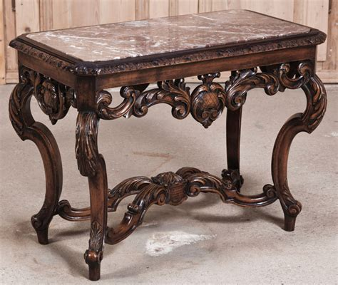 antique marble top side table louis xiv marble top end table antique furniture
