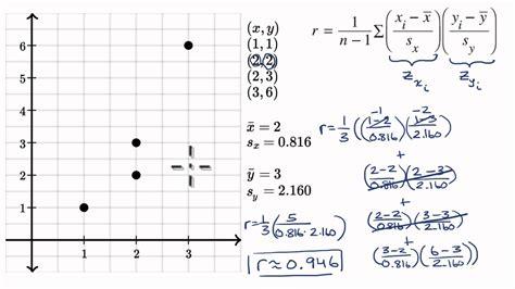 calculating correlation coefficient  ap statistics