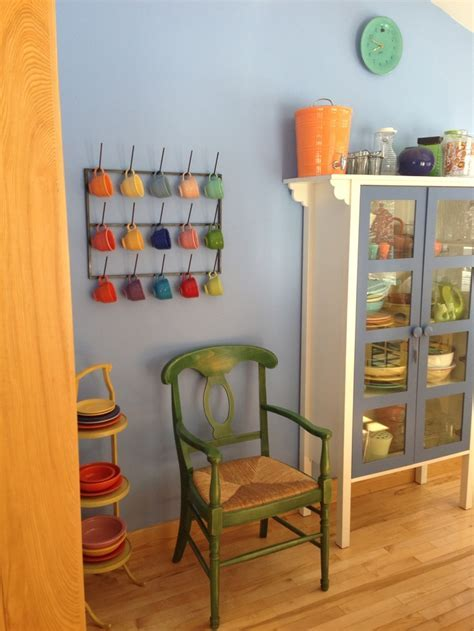 Great display/storage for Fiestaware   home decor