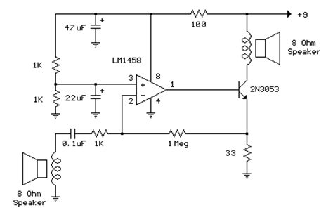 Low Power Amp Audio Milliwatt Amplifier
