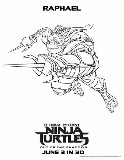 Ninja Turtles Coloring Pages Mutant Teenage Raphael