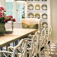white marble top dining table cottage kitchen windsor smith home