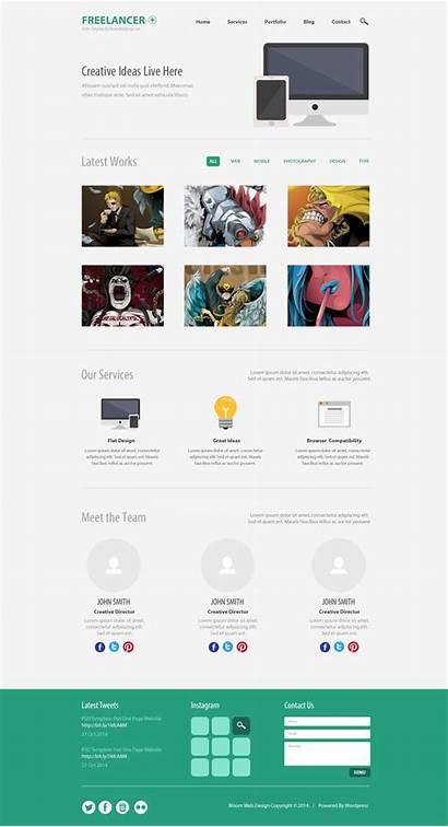 Template Website Psd Minimalist Web Templates Single