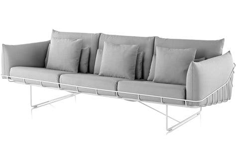 wireframe 3 seat sofa hivemodern