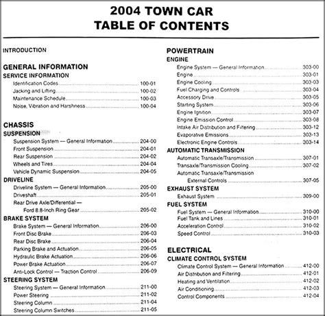 lincoln town car repair manual 1990 2011 2004 lincoln town car repair shop manual original