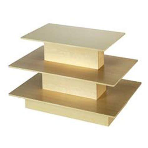 three tier floor l maple table 3 tier level merchandise floor display retail