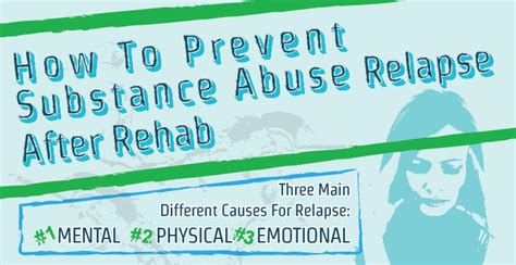 prevent substance abuse relapse  rehab infographic