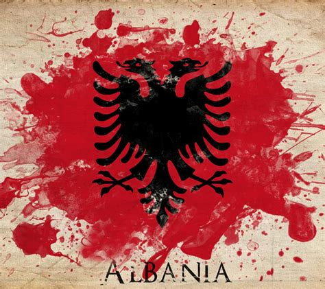 flag  albania history design  pictures