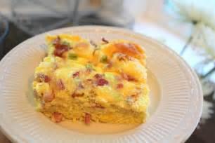 baked egg breakfast casserole crafty sisters breakfast egg casserole