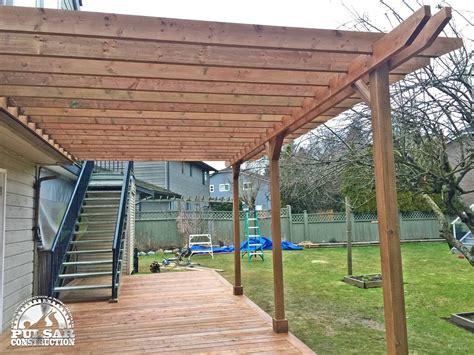 ground level deck pergola picture  deckscom