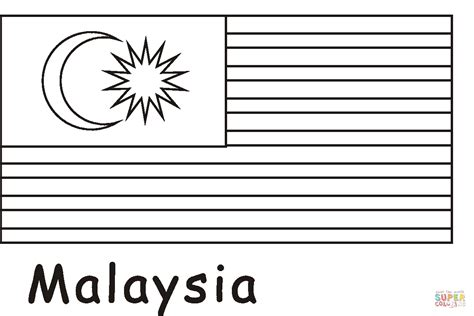 malaysia flag coloring page  printable coloring pages