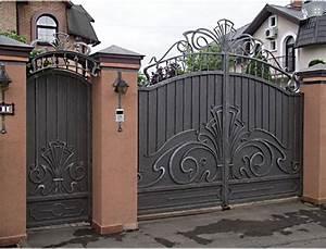 Portail Fer Forgé Plein : fabricant portail fer forg villa au maroc rabat ~ Dailycaller-alerts.com Idées de Décoration