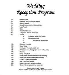 wedding reception template wedding program template 61 free word pdf psd documents free premium templates