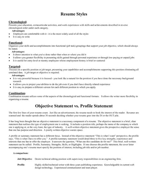An Objective Sentence On A Resume by Exles Of Resumes Resume Objective Statements For Regarding 89 Enchanting Domainlives